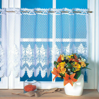 Window Lace Curtain Voile Net Curtains Tier Curtain Half Valance Blind 160x45cm