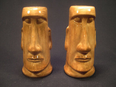 Kahiki Supper Club Columbus Ohio Moai Tiki Salt & Pepper Shakers