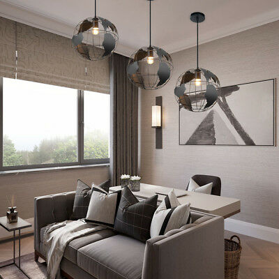 Modern World Map Pendant Ceiling Hanging Lamp Chandelier Home Light Fixture