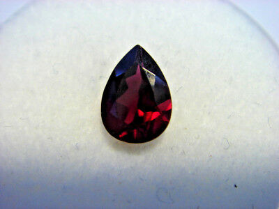 Rhodolite Garnet Gemstone Pear Cut 8 mm x 6 mm 1 carat faceted natural Gem