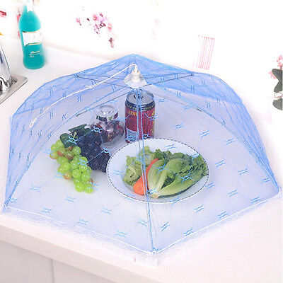 Kitchen Food Umbrella Cover Picnic Barbecue Party Fly Mosquito Mesh Net Tent QW