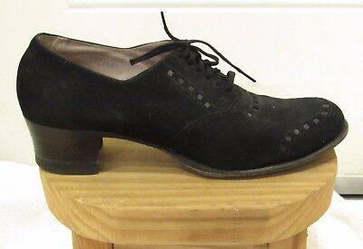 Vintage Black Suede Granny Shoes Older Than Your Granny 10