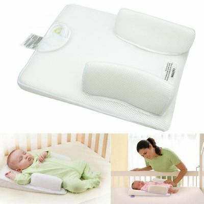 US Newborn Infant Anti Roll Pillow Sleep Positioner Prevent Flat Head Cushion