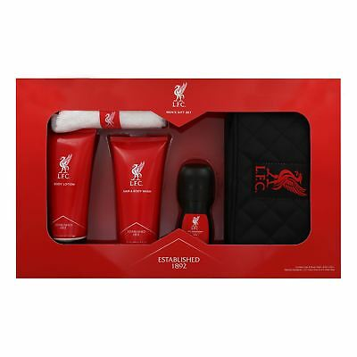 Liverpool FC Mens Hair & Body Wash Lotion Roll-on Cloth Gift Set Official