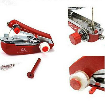 Portable Handheld Cordless Mini Sewing Machine Hand Held Stitch Home Clothes