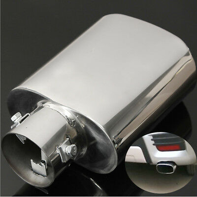 Car Chrome Universal Stainless Steel Exhaust Rear Tail Pipe Muffler Trim Tip