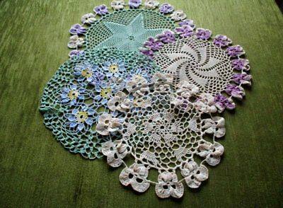 Vintage Flower Mats - Collection Of 4