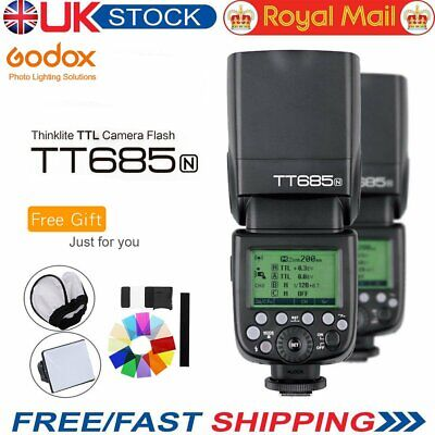 UK Godox TT685N 2.4G 1/8000s i-TTL GN60 Wireless Speedlite Flash for Nikon +GIFT