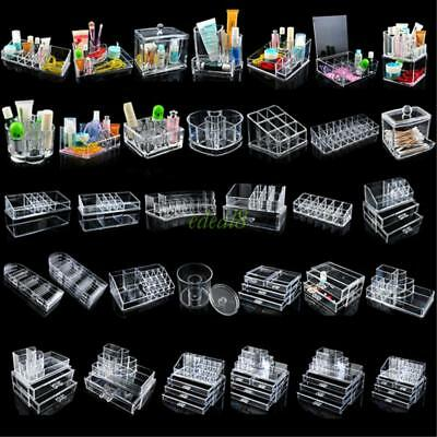 Acrylic Makeup Box Cosmetic Organizer Drawer Holder Clear Storage Cases Jewelry
