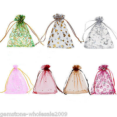 W09 25PCs 10cmx12cm Organza Gift Bags Pouches Wedding/Christmas Gift Favor ILC