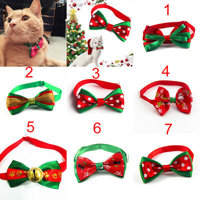 Christmas Dog Cat Pet Puppy Bow knot Necktie Collar Bow Tie Clothes Lovely Cute