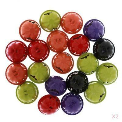 40pcs Jingle Bells Christmas Halloween Pumpkin Bell Charm Make Jewelry Craft