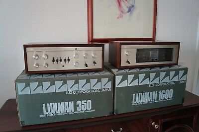 Luxman CL350 AND M-1600 Pre AND Power Amplifier -- HIGH END VINTAGE ---