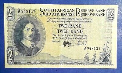 SOUTH AFRICA: 1 x 2 Rand Reserve Bank Banknotes - Extremely Fine Condition