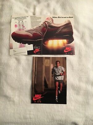 NIKE AIR MAX Poster / Flyer von 1986 Running Tennis Soccer It's not a shoe!