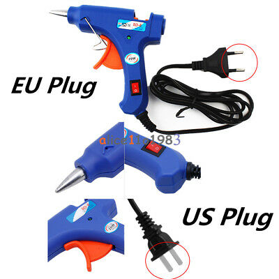 20W 110-220V Professional Mini Electric Heating Hot Melt Glue Gun US/EU Plug