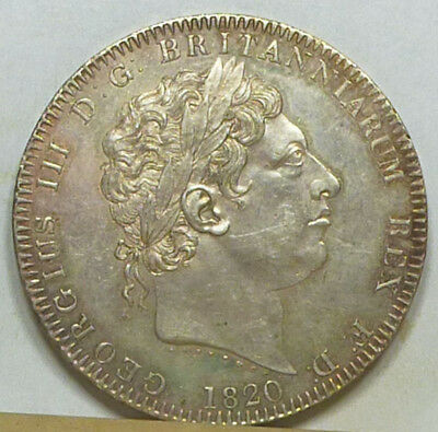 Great Britain Crown 1820 Almost Uncirculated