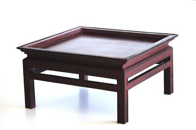 Chinese Tea Table - Red - Genuine Vintage  Low Table - Lacquer Finish