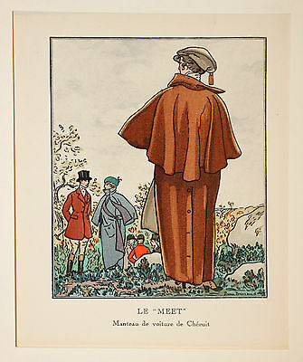 "Le Meet Mode Fashion Outfit Original SIEBDRUCK  ""Gazette du Bon Ton"" 1913"
