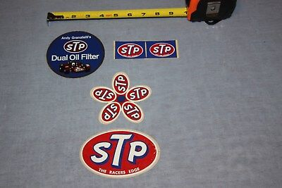 "Vintage Rare Lot of 5 STP ""Richard Petty"" Decal 4 Different Decals"