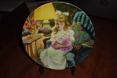 """RECO 1990 EIGHT ISSUE CHINA PLATE CALLED """"HUSH LITTLE BABY"""" BY JOHN McCLELLAND"""