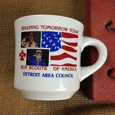 Boy Scouts of America Ceramic Mug Detroit Area Council Shaping Tomorrow Today