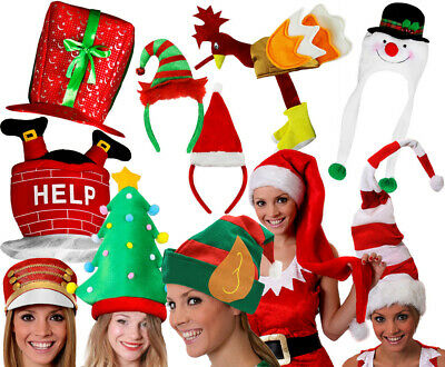 adults christmas hats presents stocking fillers fancy dress funny xmas party - Funny Christmas Hats Adults