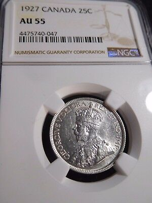 INV #S157 Canada 1927 25 Cents NGC AU-55