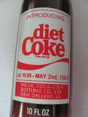 1st Run May 2 1983 Introducing Diet Coke Coca Cola Bottle New Orleans LA