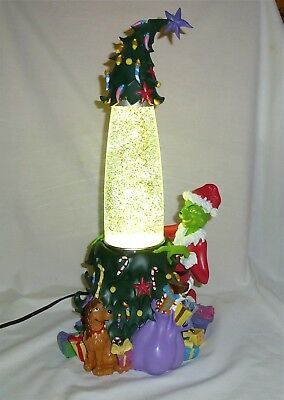 The Christmas Grinch Glitter Lamp Universal Studios with instructions excellent