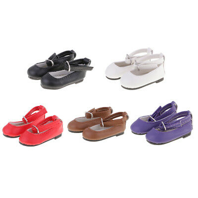 A Pair of Fashion PU Ankle Strap Shoes for 16 inch Doll Clothes ACCS 5 Colors