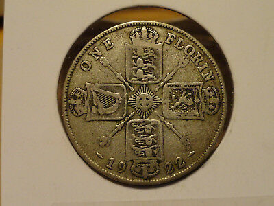 1922 UK Florin (2 Shillings) - Silver - George V (Great Britain)