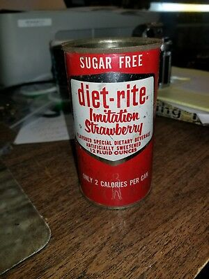 Vintage Diet Rite strawberry soda can