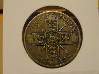 1920 UK Florin (2 Shillings) - Silver - George V (Great Britain)