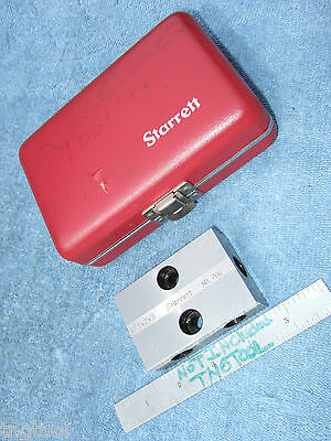 Starrett Used 1-2-3 Block In Case Engraved Toolmaker Machinist Sets Also Here!