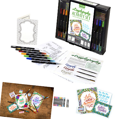 Crayola Beginner Hand Lettering Kit with Tutorials, Easier Than Calligraphy, ...