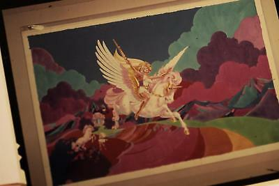 """She-Ra & Swift Wind Character Model Transparency 4""""x5"""" w/ orig sleeve Filmation"""