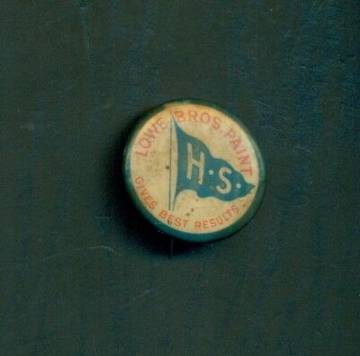 "1890's Lowe Bros. ""High Standard"" Paint Advertising Pinback Button"