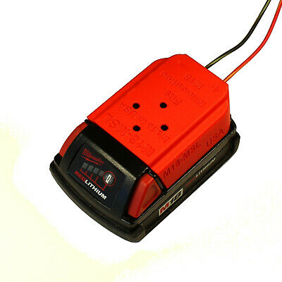 Milwaukee M18 18v Battery Dock/Mount wired 14AWG. For lights,ebike,tools #M18-14