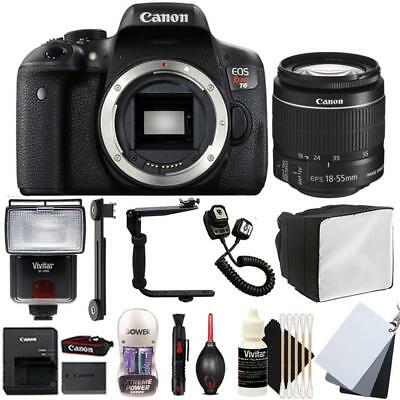 Canon EOS Rebel T6 DSLR Camera with 18-55mm EF-IS STM Lens and Top Accessory Kit