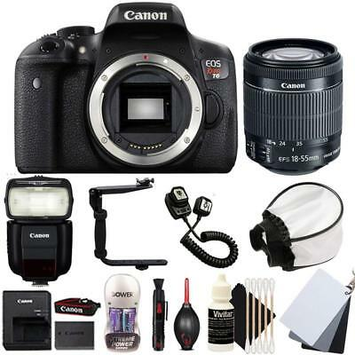 Canon EOS Rebel T6 DSLR Camera w/ 18-55mm Lens , 430EX lll Non RT Flash and Kit