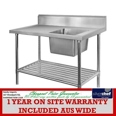 Fed Commercial Single Premium Right Sink Bench With Pot Undershelf Ssb6-1200R/a