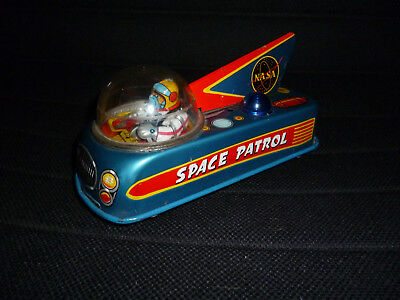 NASA Space Patrol MT Modern Toys Blech Japan 50er/ 60er Jahre