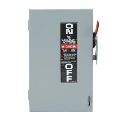 Commercial Manual Non-Fuse Indoor Single Phase Safety Switch GE 30 Amp 240-Volt