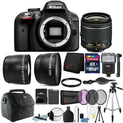 Nikon D3400 24.2MP DSLR Camera 18-55mm Lens + Zoom Flash + Top Accessory Bundle