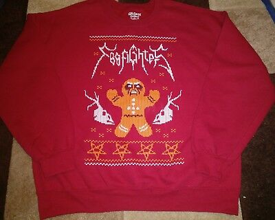 "Rare Official Foo Fighters Xmas Jumper Size Large L XL 48"" Chest Christmas"