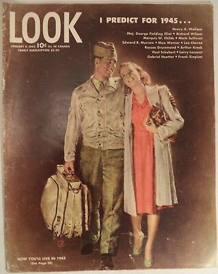 LOOK Magazine January 9 1945 WWII Jobs Nimitz Predictions Entertainment Sports