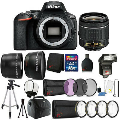 Nikon D5600 24.2MP DSLR Camera 18-55mm Lens + TTL Flash and Accessory Bundle