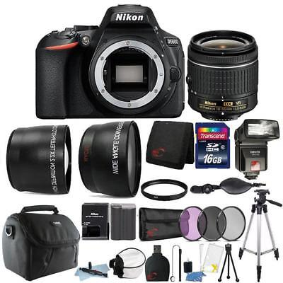 Nikon D5600 24.2MP DSLR Camera 18-55mm Lens + TTL Flash + Top Accessory Bundle