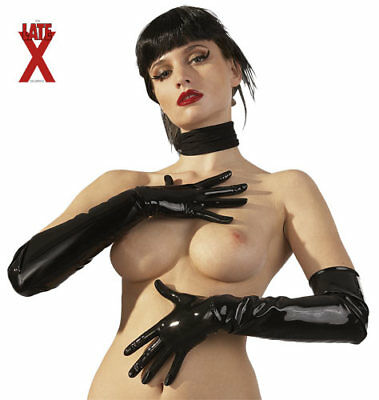 "Guanti In Latex Neri ""gloves"" L"